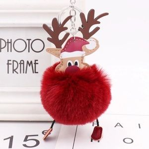 Rudolph the Red-Nosed Reindeer Pom Pom Keychain